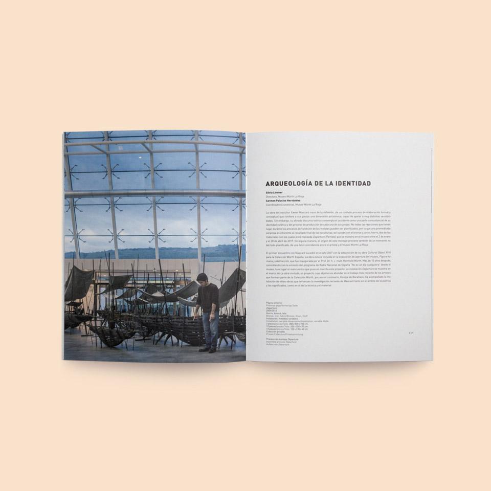 diseño catalogo exposición departure museo würth la rioja