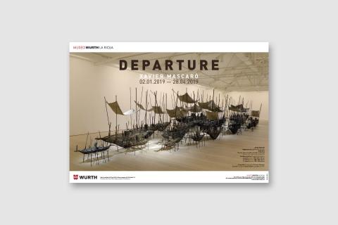 Diseño imagen exposición Departure de Xavier Mascaró