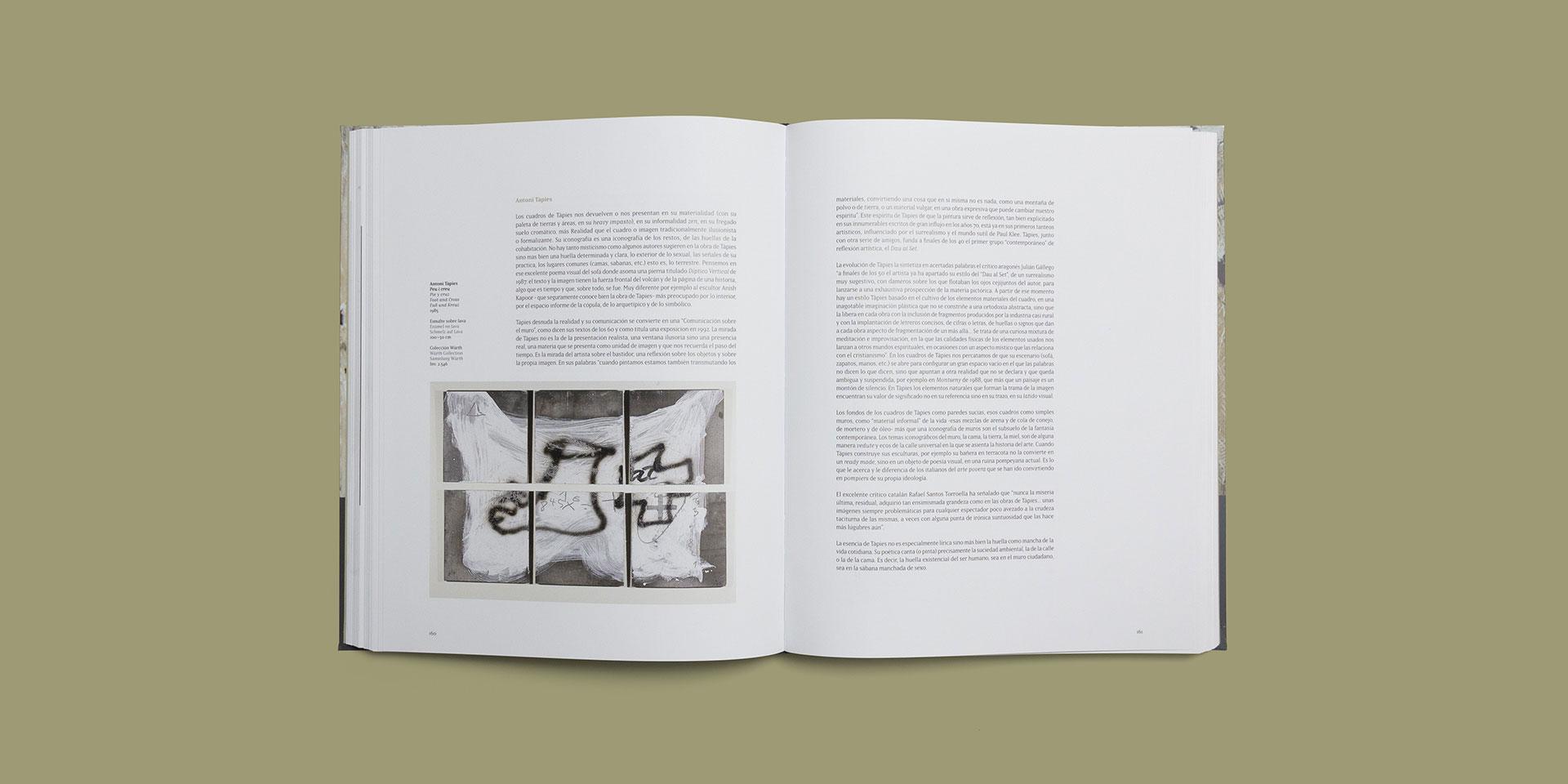 maquetación catalogo arte español museo würth la rioja