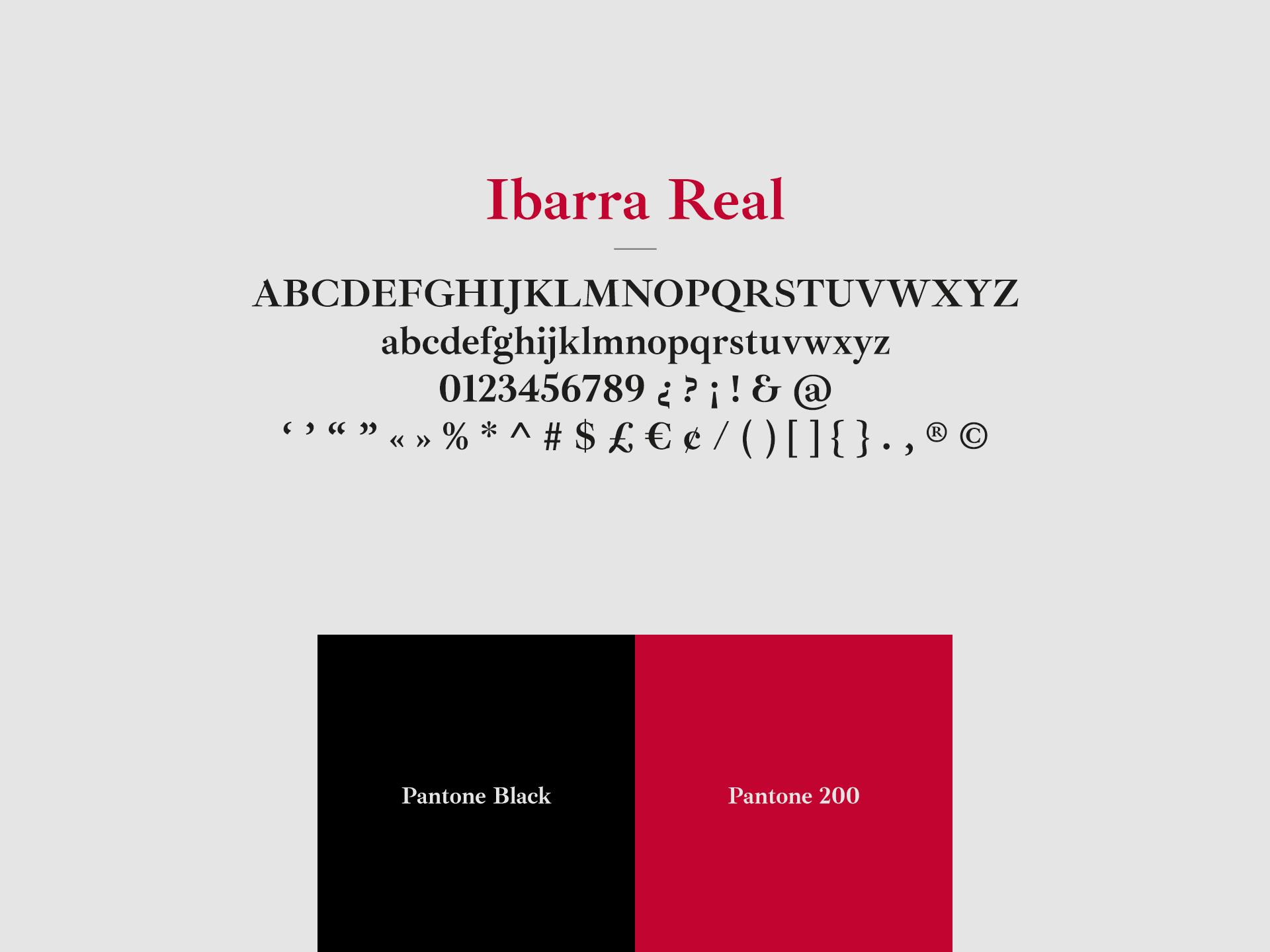 tipografia fabiana sanna Ibarra real