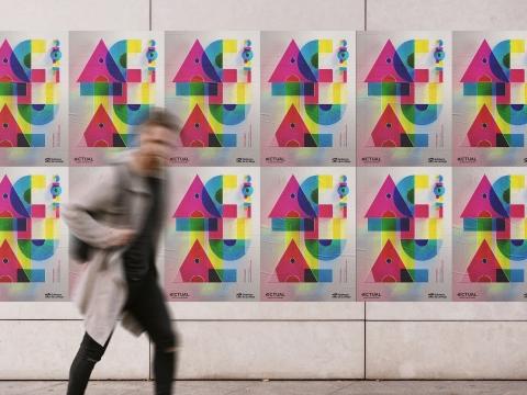 diseno cartel festival actual arte 2021