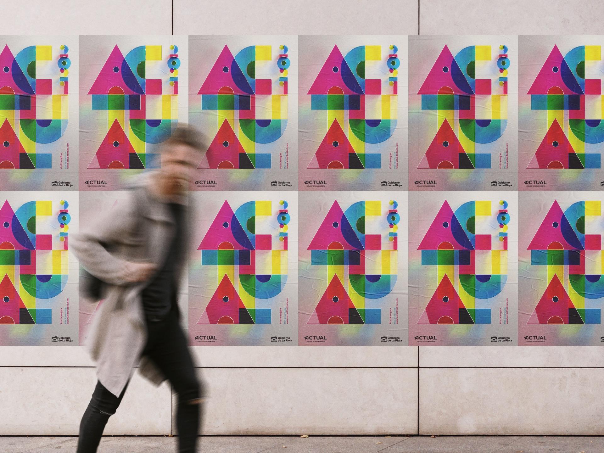 diseño cartel festival actual arte 2021