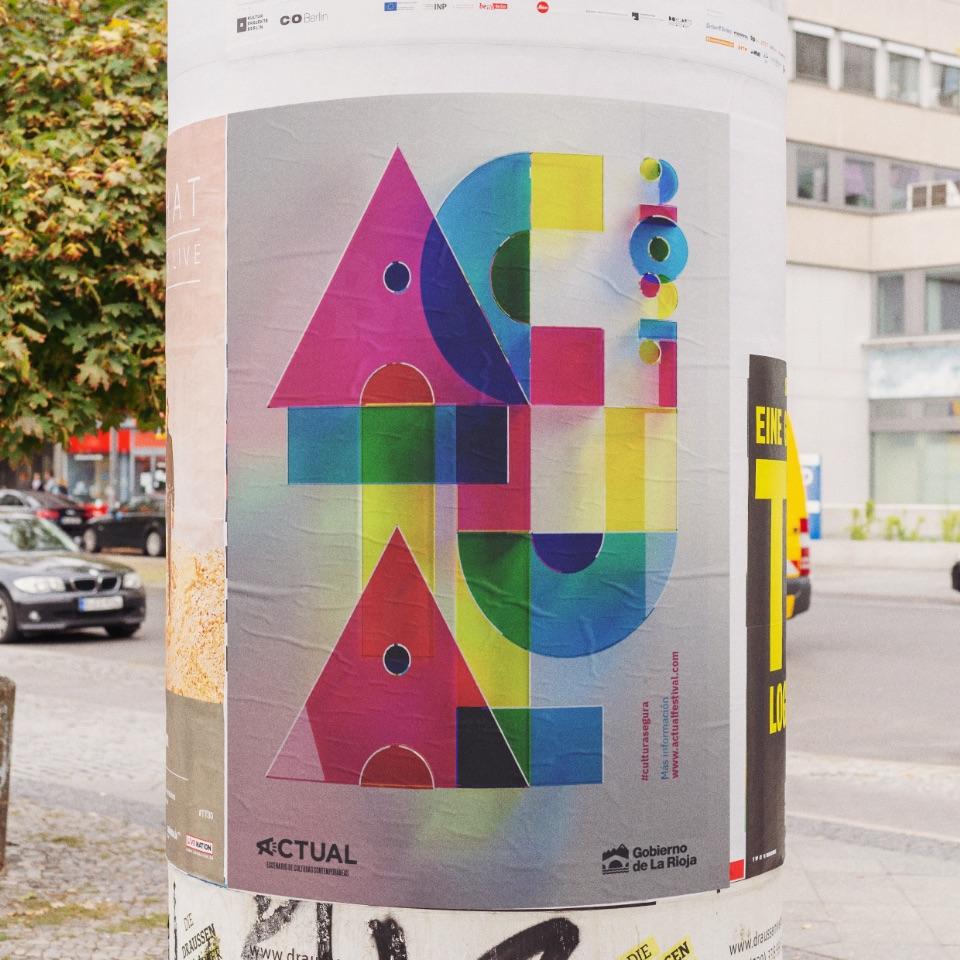 diseño cartel festival musica actual 21