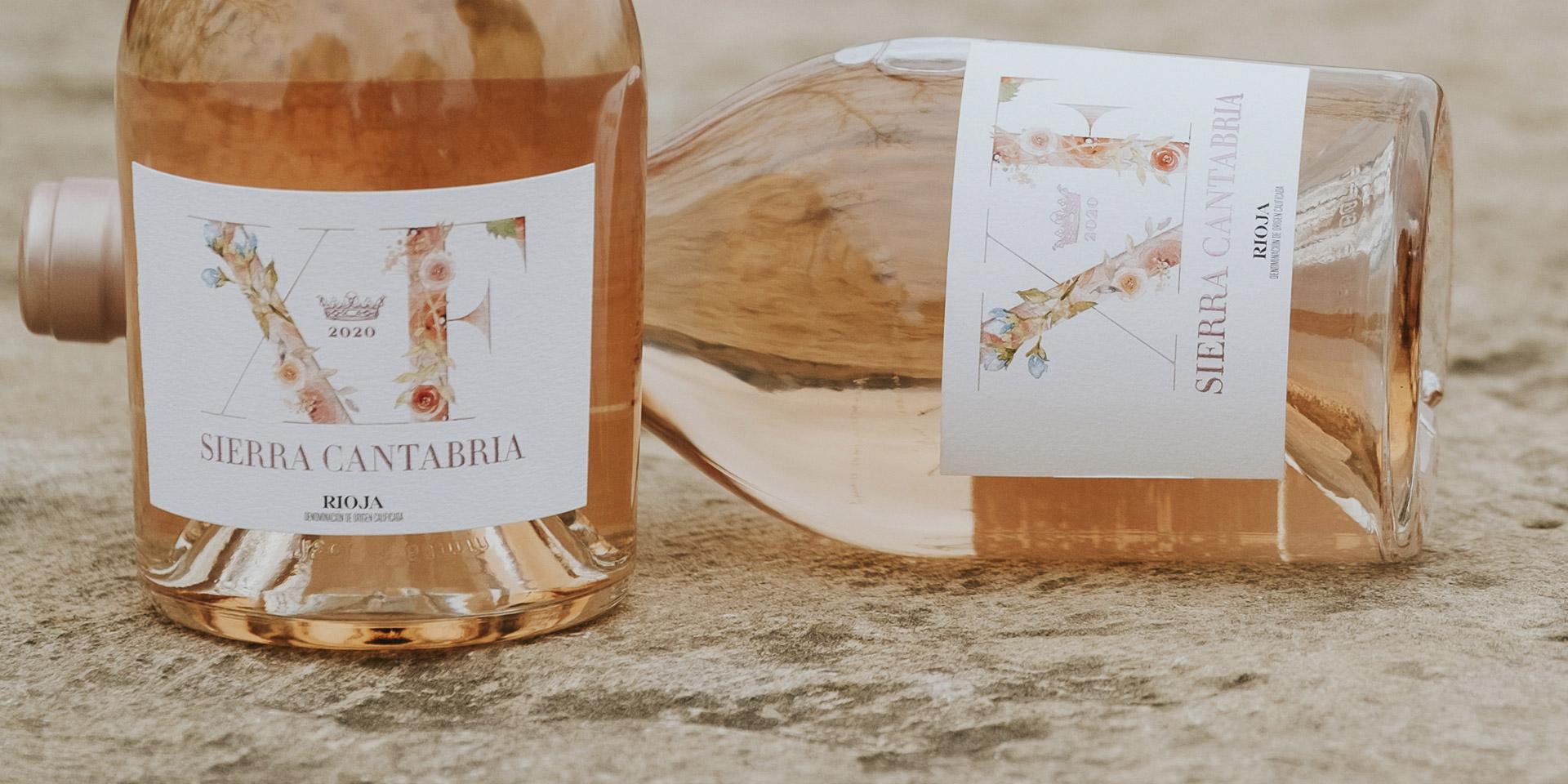 Diseño etiqueta packaging label rose wine
