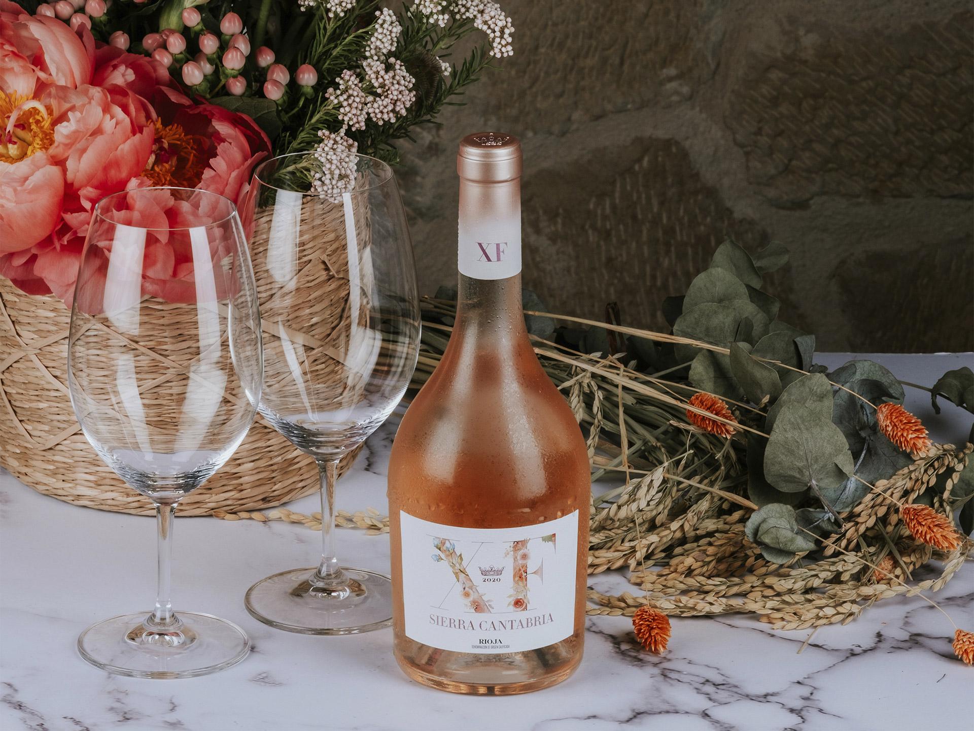 Diseño packaging vino rosado XF Sierra Cantabria